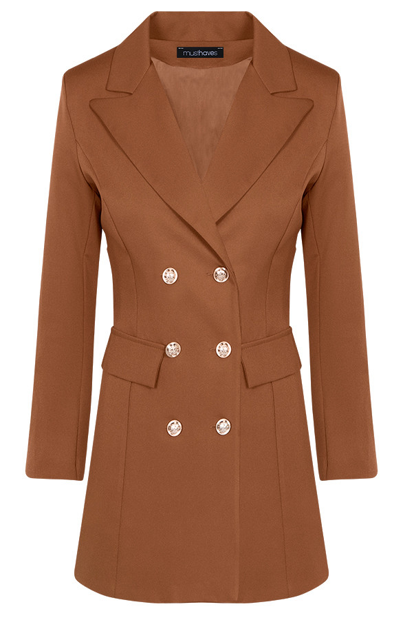Button-Blazer-Dames-Cognac