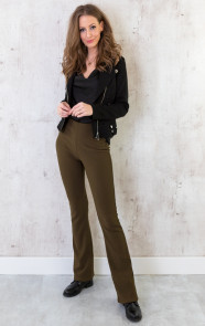 Flared-Broek-Rib-Dames-Army-5