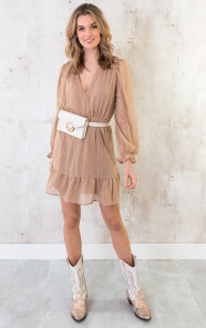 Ruches-Jurk-Deluxe-Camel-3