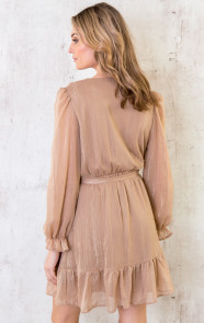 Ruches-Jurk-Deluxe-Camel-4