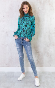 Cheetah-Col-Blouse-Turquoise-2
