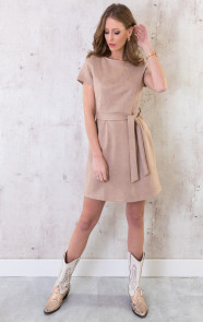 Suede-Jurk-Taupe-2