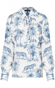 Strik-Blouse-Jungle-Blauw