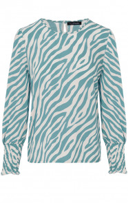 Zebra-Blouse-Mint