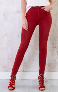 High-Waisted-Skinny-Jeans-Rood-1