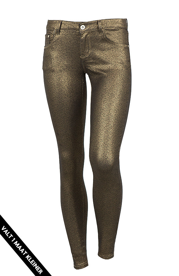 Metallic-Coating-Jeans-Goud