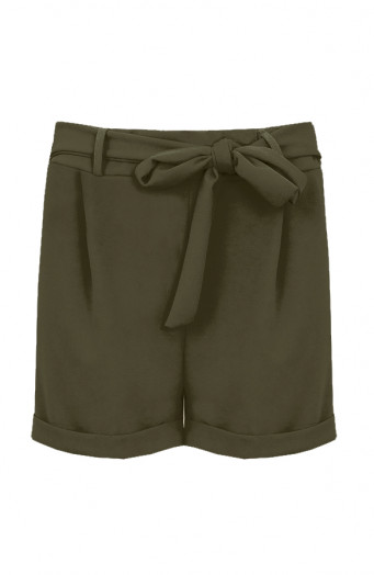 Basic-Strik-Shorts-Legergroen