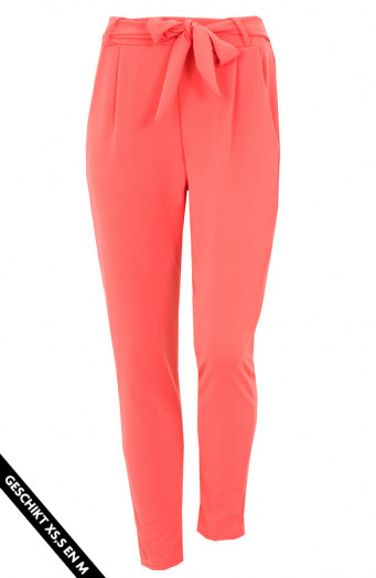 Strik-Broek-Basic-Koraalrood
