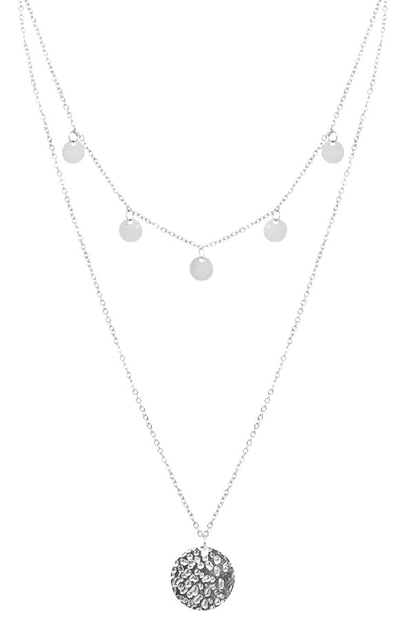 Coins-Layer-Ketting-Zilver
