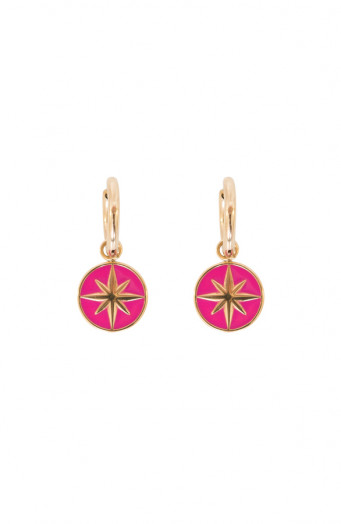 Luxury-Star-Oorbellen-Fuchsia