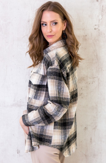 Checkered-Blouse-Soft-Zwart-5
