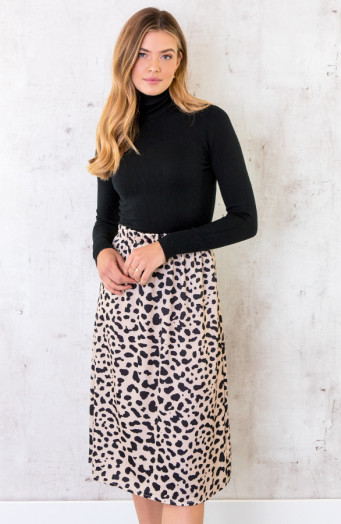 Cheetah-Satin-Rok-Beige-2
