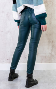 High-Waist-Coating-Jeans-Smaragdgroen-1