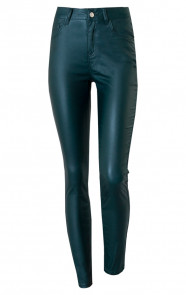 High-Waist-Coating-Jeans-Smaragdgroen