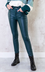 High-Waist-Coating-Jeans-Smaragdgroen-2