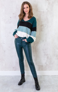 High-Waist-Coating-Jeans-Smaragdgroen-3