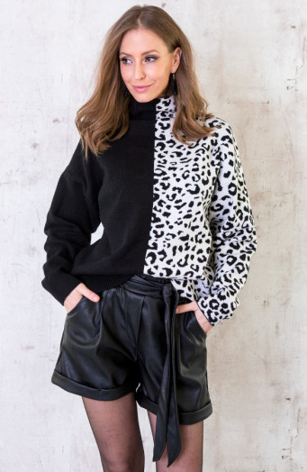 Oversized-Coltrui-Panter-Zwart-5