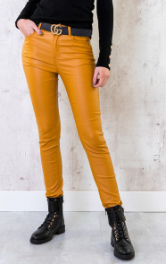 High-Waist-Coating-Jeans-oker-1