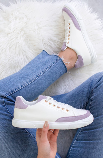 Dames Sneakers Wit Lila