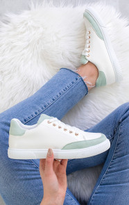 Dames-Sneakers-Wit-Mint