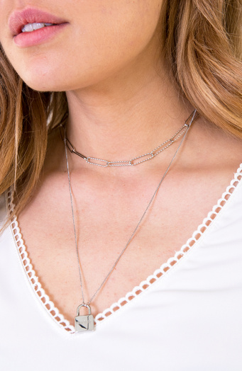 Laagjes Ketting Amour Zilver