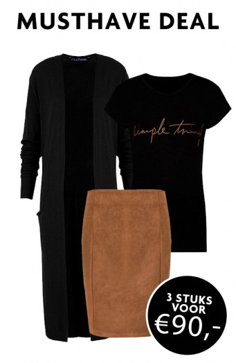 Musthave Deal Simple Jersey Cognac