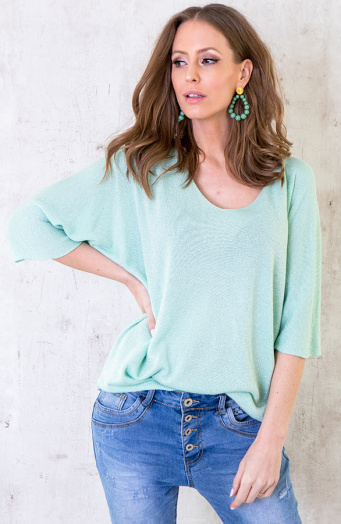Oversized Lurex Top Mint