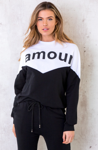 Comfy Sweater Amour Zwart
