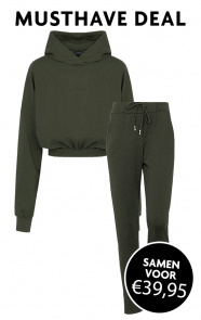 Joggingpak-Dames-Cropped-Legergroen