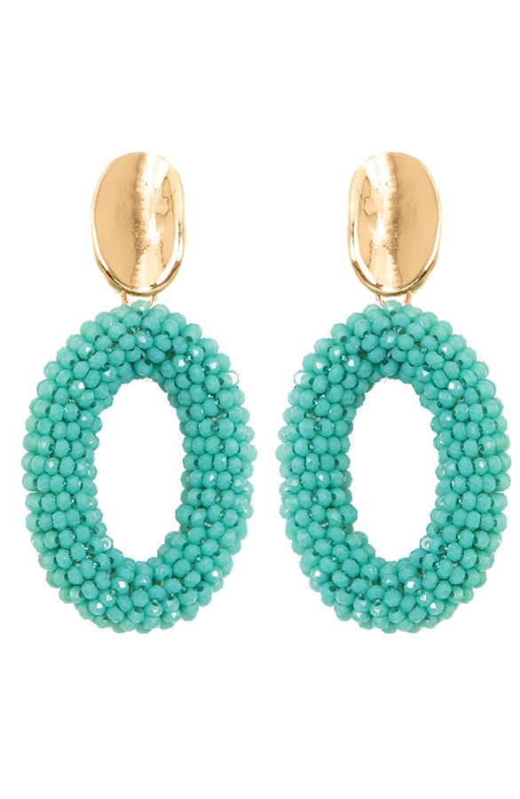 Oval-Limited-Oorbellen-Turquoise