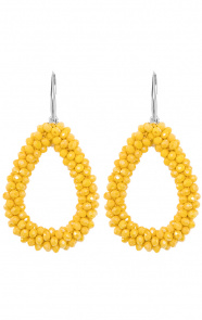 Oval-Yellow-Oorbellen