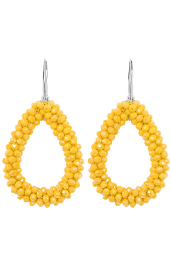 Oval Yellow Oorbellen