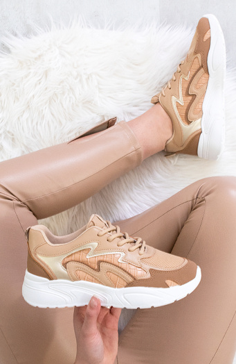 Dad Sneakers Flame Camel