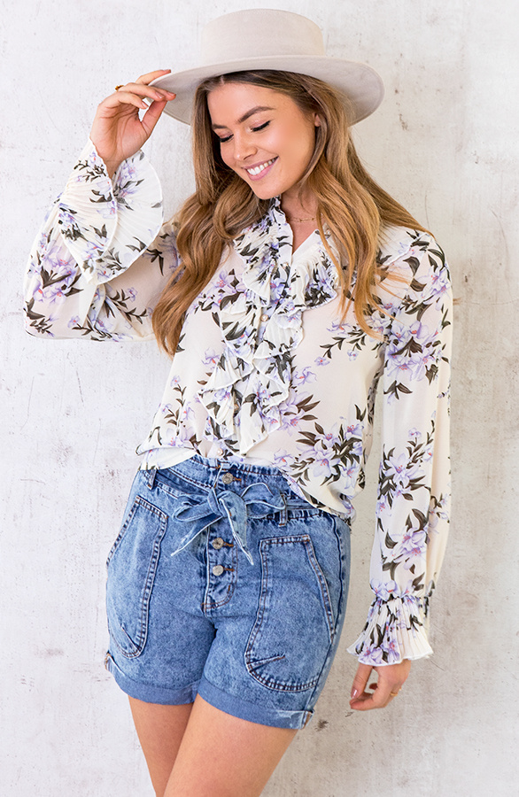 Floral-Print-Ruches-Blouse-1
