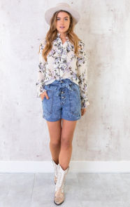 Floral-Print-Ruches-Blouse-2