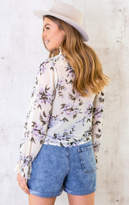 Floral-Print-Ruches-Blouse-4