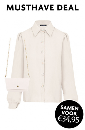 Musthave Deal Blouse + Mini Bag Beige