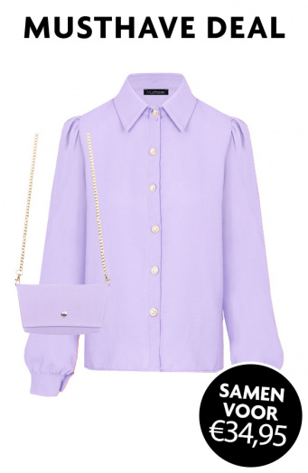 Musthave Deal Blouse + Mini Bag Lila