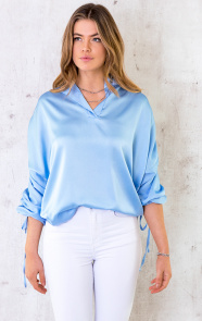 Silk-Lace-Blouse-Jeansblauw-3