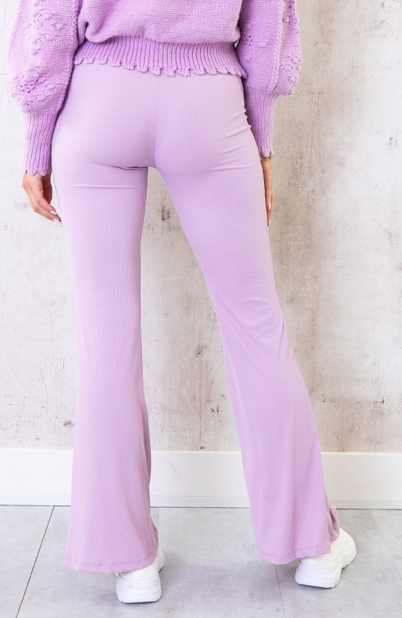Flared-Broek-Extremely-Stretch-Lila-4