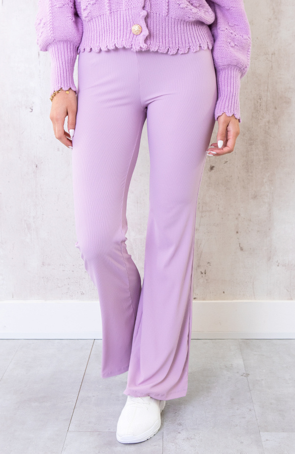 Flared-Broek-Extremely-Stretch-Lila-6