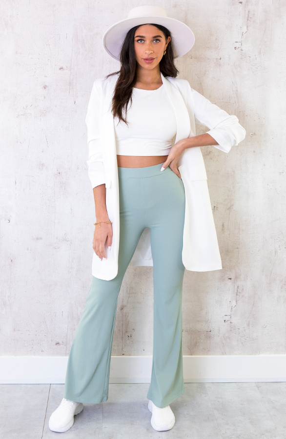 Flared-Broek-Extremely-Stretch-Mint-1