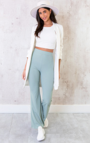 Flared-Broek-Extremely-Stretch-Mint-5