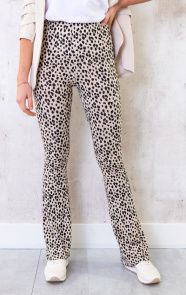 Flared-Broek-Panterprint-Creme-2