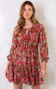 Ibiza-Dress-Floral-Rood-5