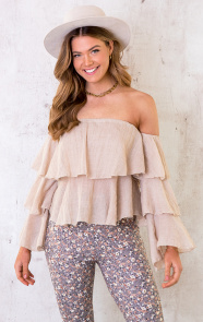 Off-Shoulder-Ruffle-Top-Beige-5
