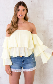 Off-Shoulder-Ruffle-Top-Geel-4