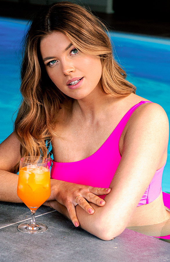 One-Shoulder-Bikini-Set-Neon-Pink-2