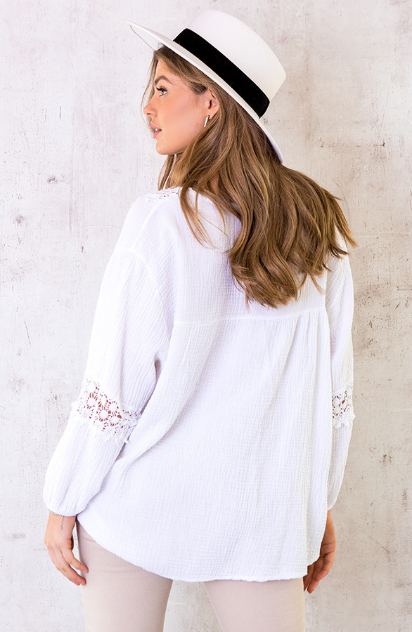 Oversized-Katoenen-Blouse-Wit-3