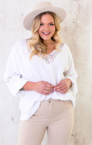Oversized-Katoenen-Blouse-Wit-4-1